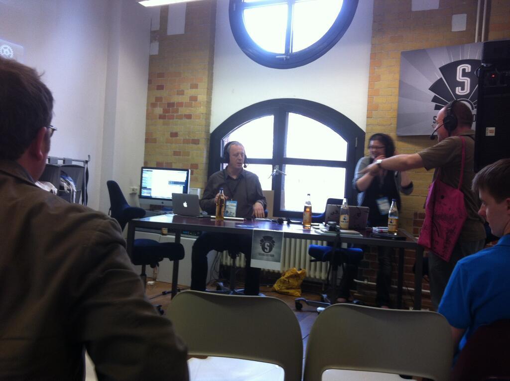 Tim Pritlove, Claudia Krell und Martin Haase (MaHa) reden auf der Republica 2013